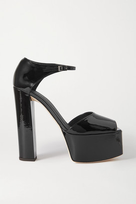 Giuseppe Zanotti Patent-leather Platform Sandals - Black
