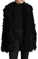A.L.C. Stone Shearling Coat