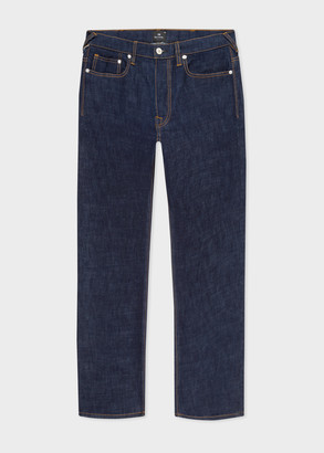 Paul Smith Men's Standard-Fit Indigo-Rinse 'Crosshatch Stretch' Jeans