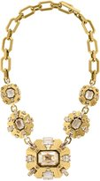 Swarovski Lanvin Cristaux Deco Necklace - Golden