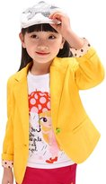 uxcell® Girls Long Sleeves One Button Fastening Blazer Allegra Kids