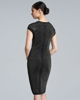 Escada Sezen Metallic Knit Dress, Black