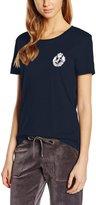 Juicy Couture Black Label Womens Modal Blend Embellished T-Shirt Black L
