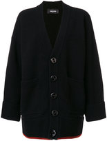 DSQUARED2 chunky buttoned cardigan - women - Polyester/Virgin Wool - S
