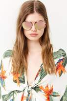 Forever 21 Mirrored Bridgeless Sunglasses