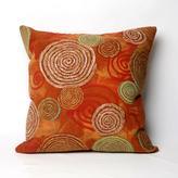 "Visions III 20"" Graffiti Swirl Pillow in Warm Colors"
