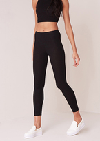 Missy Empire Ruby Black Ribbed Legging