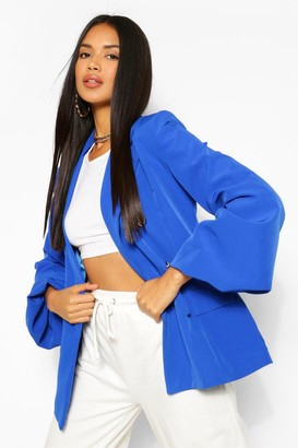 boohoo Extreme Puff Sleeve Double Breasted Blazer