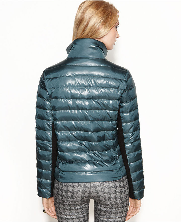 Rachel Roy Double-Breasted Puffer Jacket