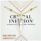 Alex and Ani Crystal Infusion Necklace, Golden Ray Spike Pendant 14K Gold Plated Bangle Bracelet