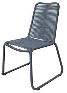 Corrigan Studio Moos Stacking Patio Dining Side Chair Color: Grey
