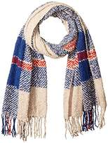 D&Y Women's Large Scale Plaid Woven Blanket Scarf