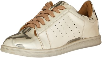 N.Y.L.A. Women's 154630 Fashion Sneaker Gold 9 M US