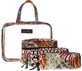 Vera Bradley Luggage Four-Piece Cosmetic Organizer