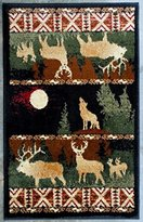 Lodge Cabin Mat Area Rug Design L 382 (2 Feet X 3 Feet 2 Inch)