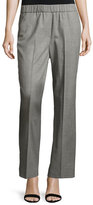 Peserico Stretch-Wool Pull-On Pants, Gray