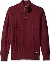 Dickies Men's Solid Allover Texture Mock-Neck Sweater