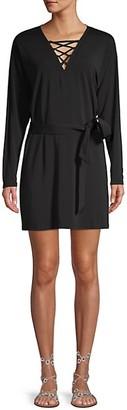 Ramy Brook Lace-Up Mini Dress