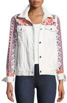 Johnny Was Denim Jacket with Embroidery, Petite