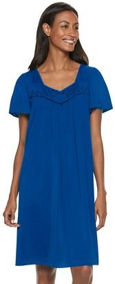 Miss Elaine Petite Essentials Tricot Nightgown
