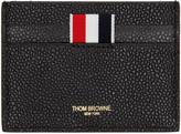 Thom Browne Black Diagonal Stripe Single Card Holder