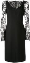 Alexander McQueen lace sleeve dress