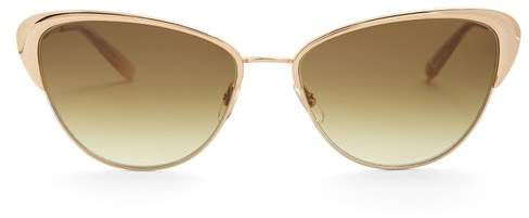 Garrett Leight Vista 56 Cat Eye Sunglasses - Womens - Dark Green
