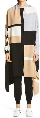 St. John Stripe Cashmere Sweater Wrap