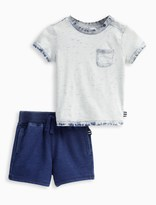 Splendid Baby Boy Bleach Tee with Short