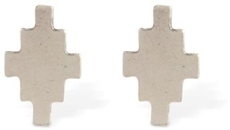 Marcelo Burlon County of Milan Mini Cross Logo Stud Earrings