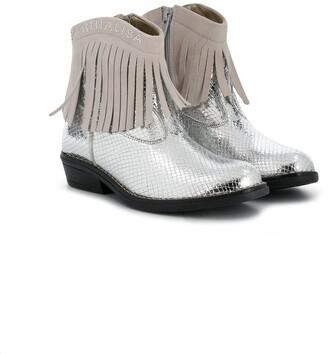 MonnaLisa Metallic Cowboy Boots