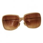 Saint Laurent Beige Metal Sunglasses