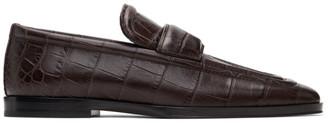 Bottega Veneta Brown Croc Loafers