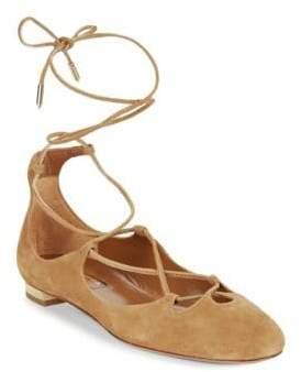 Aquazzura Leather Dancer Flats