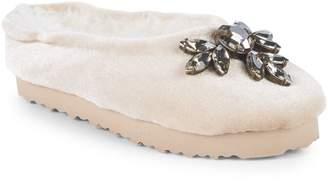 Joyfolie Kid's Mia Joy Ameline Faux Fur Velvet Slippers