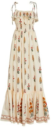 Agua Bendita Floral Coco Maxi Dress