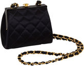 One Kings Lane Vintage Chanel Cross-Body Kiss Lock Silk Bag