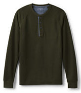 Classic Men's Long Sleeve Thermal Henley-Mossy Bark