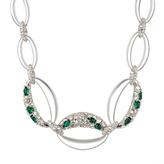 Alexis Bittar Crystal Deco Link Necklace