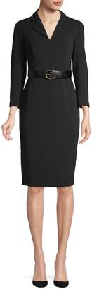 Calvin Klein Belted Knee-Length Dress