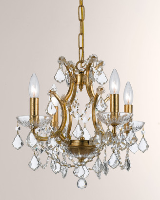Swarovski Crystorama Filmore Four-Light Elements Crystal Gold Mini Chandelier