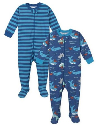 Gerber Baby Toddler Boys One-Piece Snug Fit Cotton Sleeper Pajamas, 2-Pack