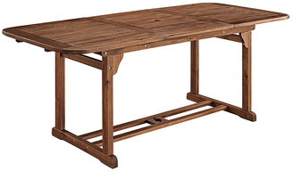 Hewson Acacia Wood Outdoor Patio Extendable Dining Table