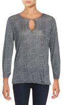 MICHAEL Michael Kors rinted Jersey Knit Long-Sleeve Top