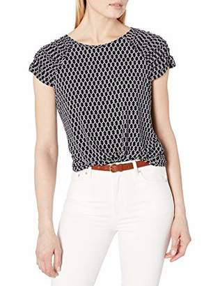 Tommy Hilfiger Women's Short Sleeve Knit Grommet Top