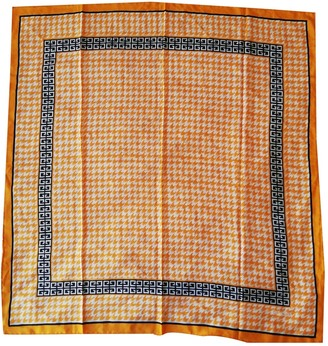 Givenchy Orange Silk Silk handkerchief