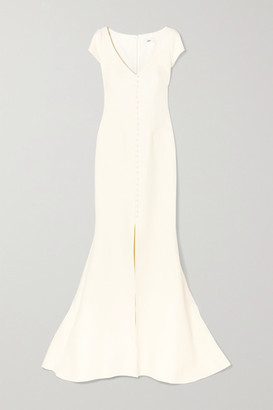Safiyaa Crepe Gown - Ivory