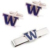 Cufflinks.com University of Washington Huskies Cufflinks and Tie Bar Gift Set