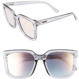 Quay Women's Genesis 55Mm Square Sunglasses - Grey/ Rose Mirror