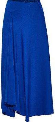 Joseph Percy Asymmetric Draped Cady Midi Skirt